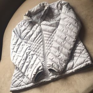Tek Gear Silver Quilted Coat